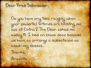 Fred letter