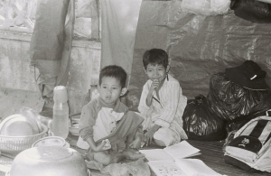 poverty kids BW